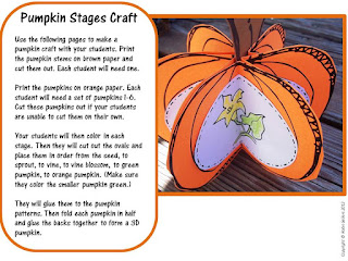 pumpkin craftivity