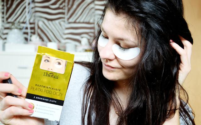 L'biotica - rozświetlające płatki pod oczy z drobinami złota - Czytaj więcej »