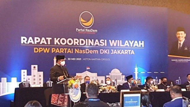 Hadiri Rakorwil, Anies Baswedan Yakin NasDem Menang Pemilu 2024