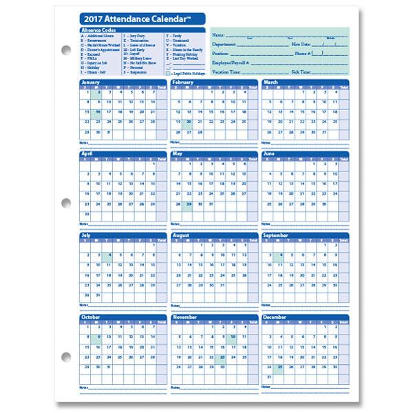 Attendance sheet for employees/excel calendar 2017,employee attendance calendar 2017,2017 attendance calendar printable,2017 employee annual attendance calendar