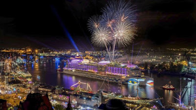 AIDA Cruises Celebrates the Port of Hamburg 828th Anniversary and the One Year Anniversary of the AIDAprima - Courtesy of AIDA Cruises.