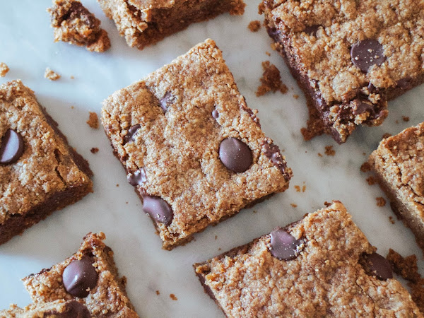 Almond Butter Chocolate Chip Bars (Vegan)