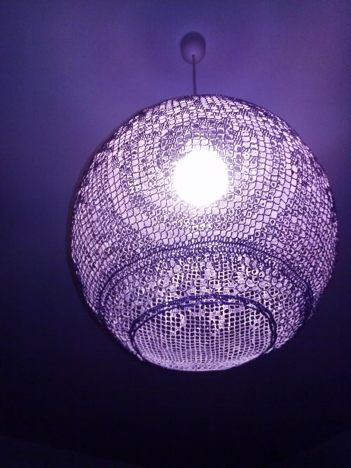 Creare Un Lampadario Di Stoffa barabao: lampadario all'uncinetto