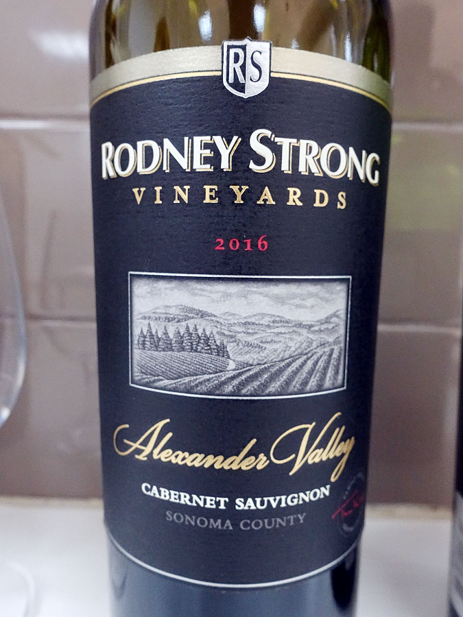 Rodney Strong Alexander Valley Cabernet Sauvignon 2016 (90 pts)