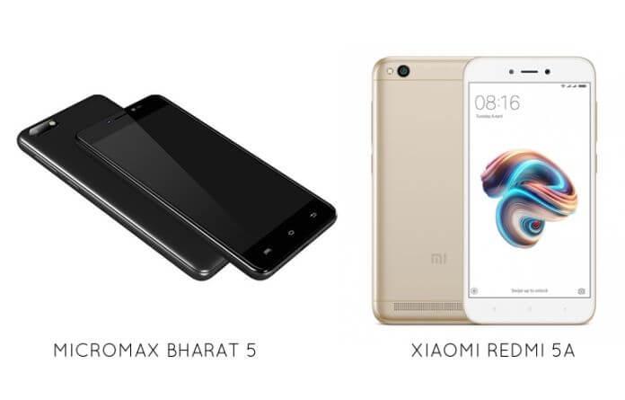 Micromax Bharat 5 vs Xiaomi Redmi 5A: