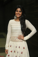 Megha Akash in beautiful White Anarkali Dress at Pre release function of Movie LIE ~ Celebrities Galleries 006.JPG