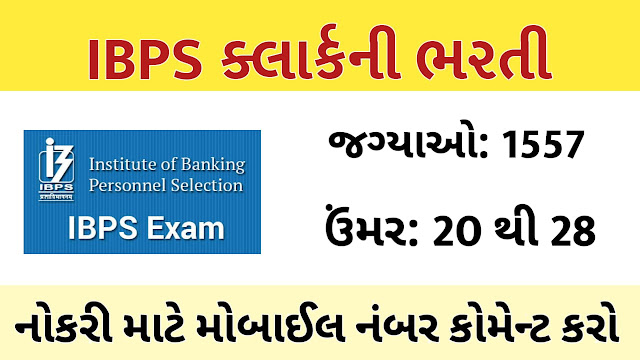 IBPS Clerk Recruitment Official Notification Out for 1557 Vacancies