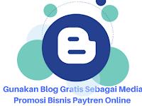 Gunakan Blog Gratis Sebagai Media Promosi Bisnis Paytren Online Jika anda Pemula