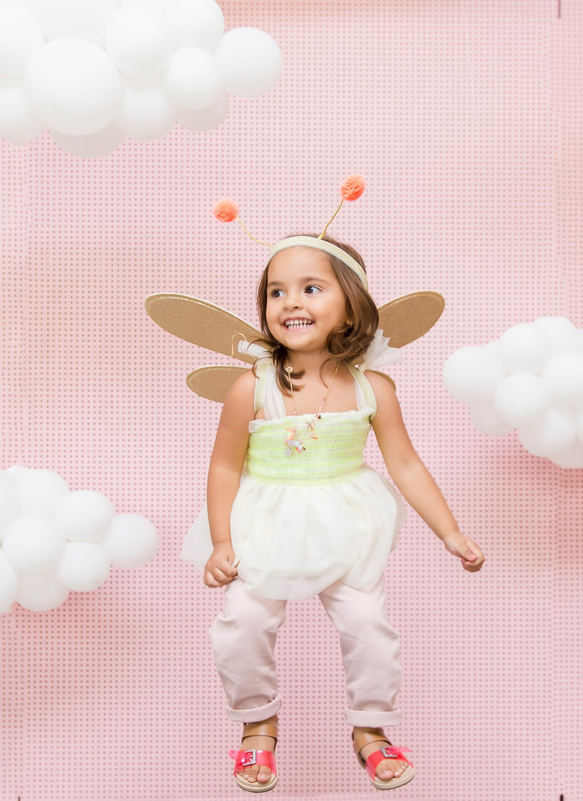 pink sky balloon clouds photo booth