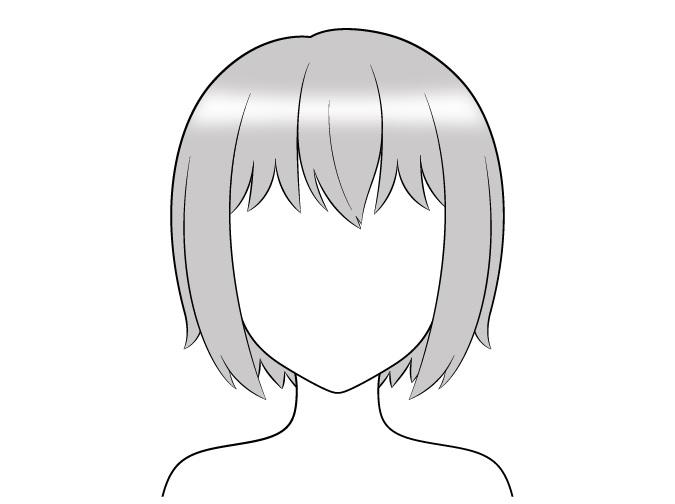 Sorotan gradien rambut anime