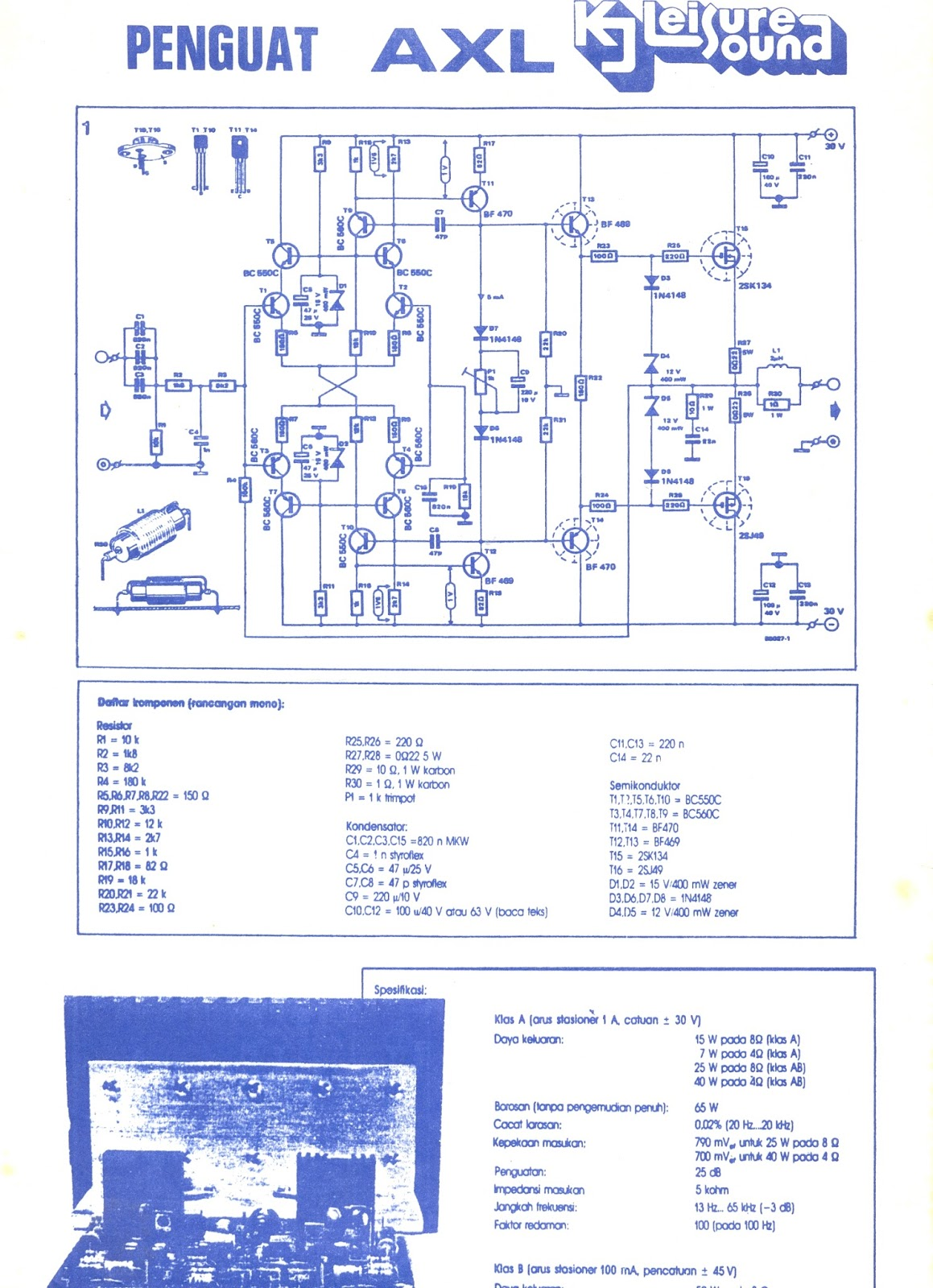 Class Ab Amplifier Skema My Colections T 60 Watts Audio Circuit Using Tda7296 Next Schematic Is A Fully Bridge Ive Made One But It Fail To Sing I Believe There Problem On The Board Itself