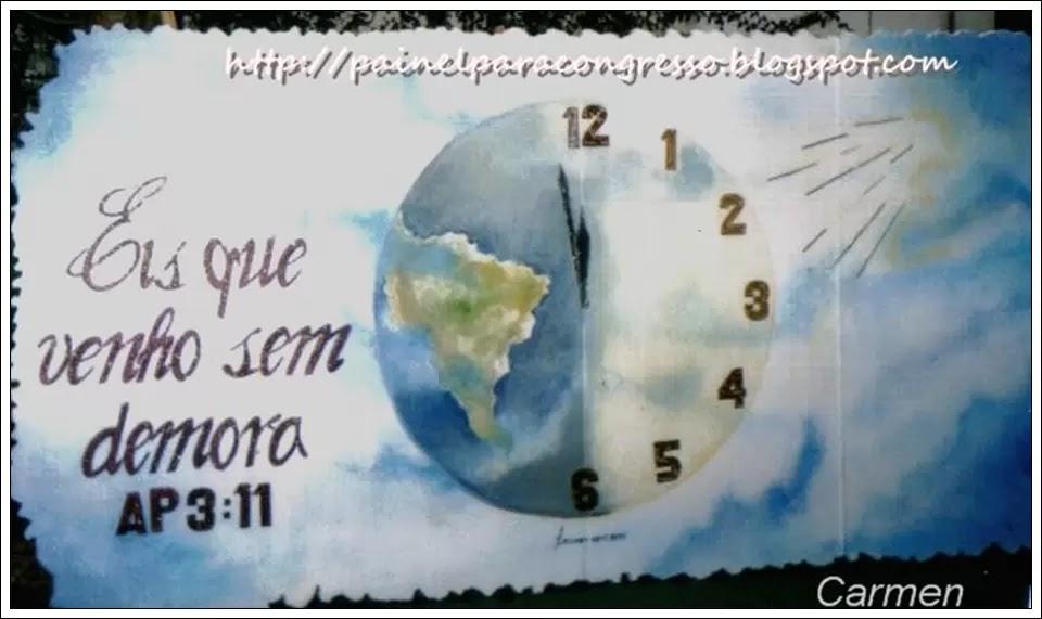 relógio pintado   Tema para congresso   /   Apocalipse 3:11