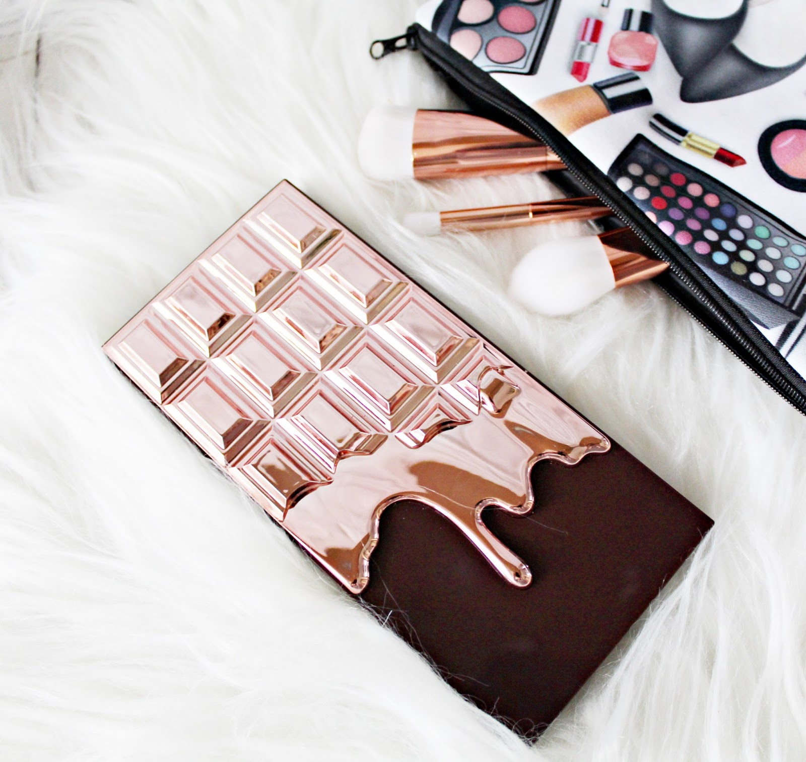 paleta cieni   I Heart Makeup I ♡ Chocolate - Rose Gold.