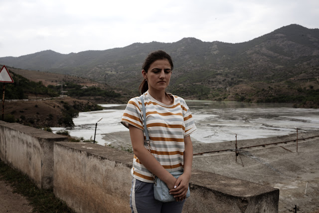 Image Attribute: Arminka at the tailing dam near Akhtala / Photo: Klaus Richter