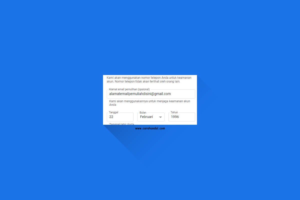 Cara Menambahkan Email Pemulihan Gmail