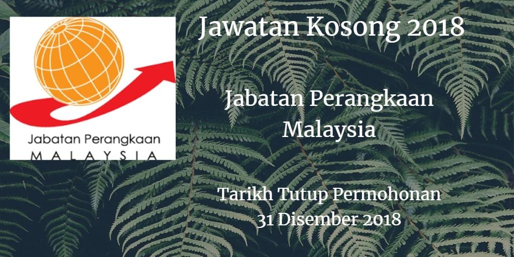Jawatan Kosong Jabatan Perangkaan Malaysia 31 Disember 2018