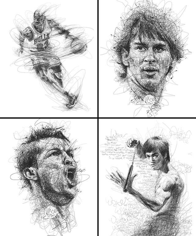Vince Low, La Dislexia y El Arte del Garabato Michael Jordan Leo Messi Cristiano Ronaldo Bruce Lee