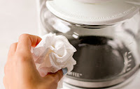 cleaning coffee pot