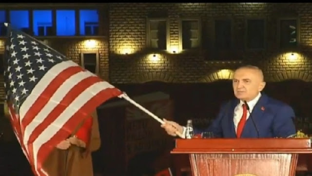The US ambassador Yuri Kim distances herself from the US Flag on today's 'manifesto'
