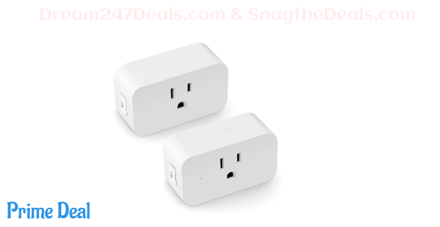 55% off LINGANZH Smart Plug 2 Pack, Mini WiFi Smart Socket Compatible with Alexa Echo Google Home