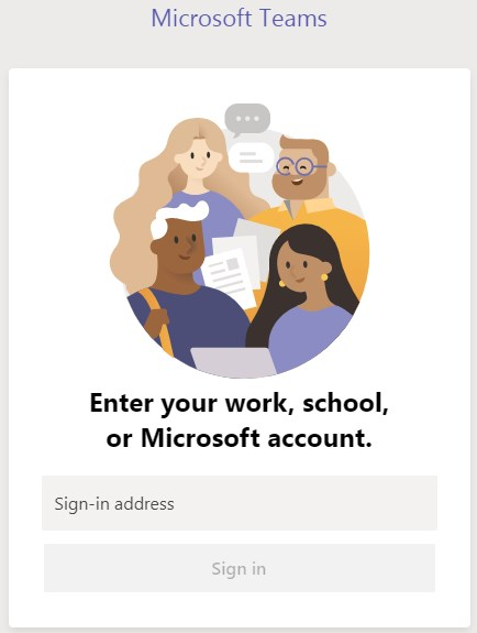 Login Aplikasi Microsoft Teams