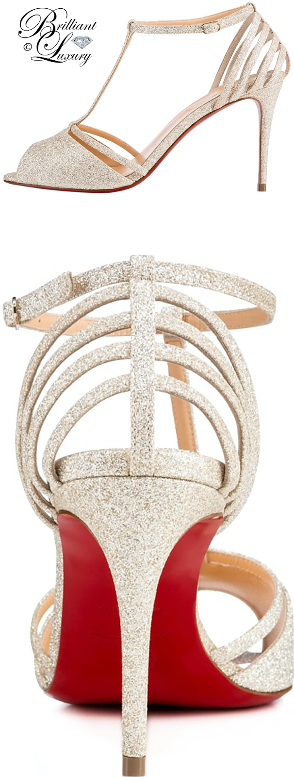 Brilliant Luxury ♦ Christian Louboutin Patitta Glitter Sandals