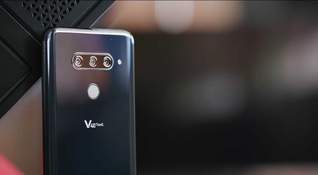 LG V40 ThinQ Triple Rear Cameras.