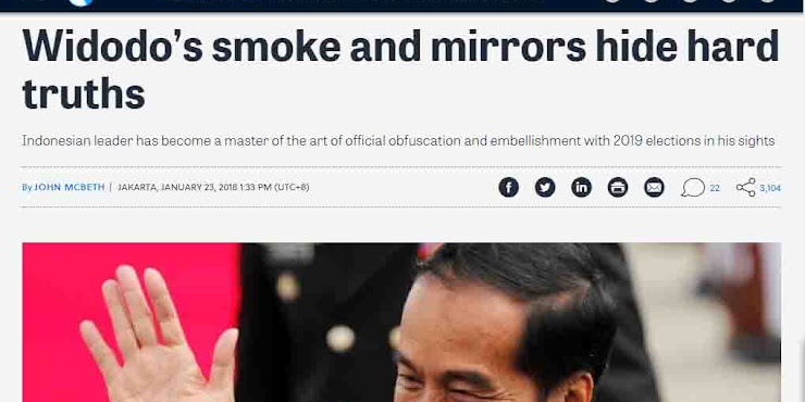 "Heboh! Media Asing Tulis ""Widodo's smoke and mirrors hide hard truths"""