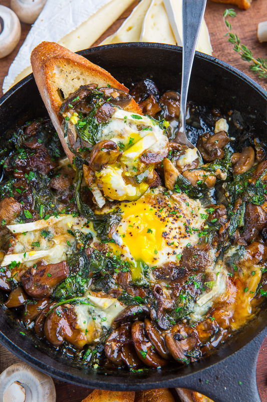 Mushroom and Brie Baked Eggs on Closet Cooking
