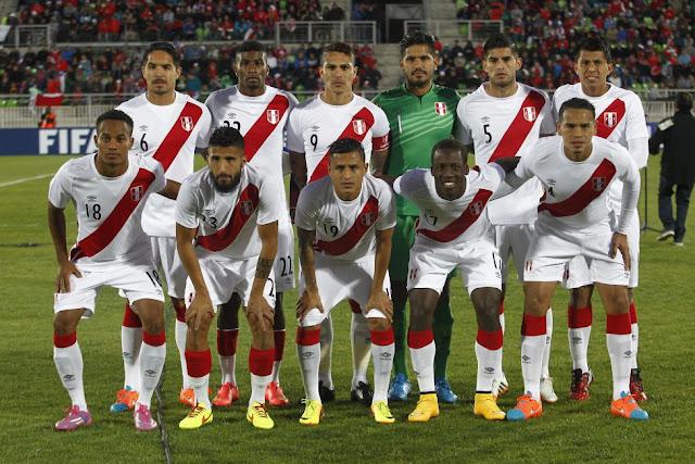 Formación de Perú ante Chile, amistoso disputado el 10 de octubre de 2014