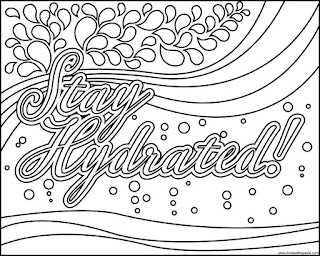 Stay Hydrated! coloring page available in jpg and transparent png formats.