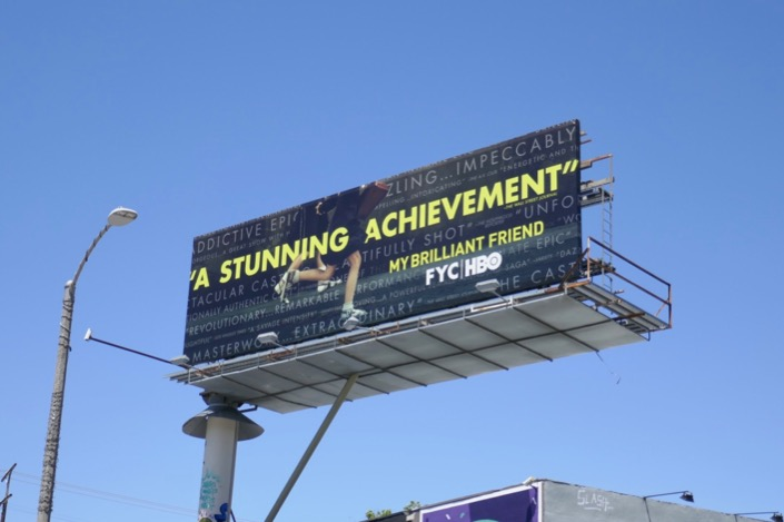 My Brilliant Friend Emmy FYC billboard
