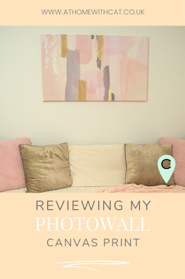 Pinterest Graphic - Photowall Pink & Gold Canvas Print Review