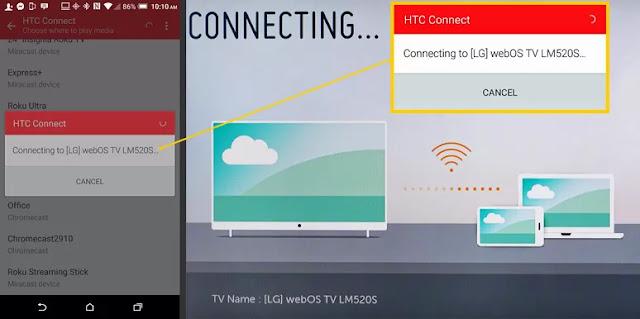 cara menyambungkan hp android ke tv lg