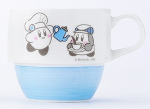 Kirby Cafe Café coffee tea mug Waddle Dee chef pouring art