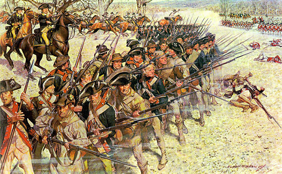 """Battle of Guiliford Courthouse 15 March 1781"" by H. Charles McBarron"