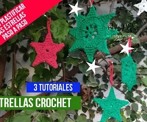 Tejer para decorar el hogar: estrellas navideñas a crochet y mucho más
