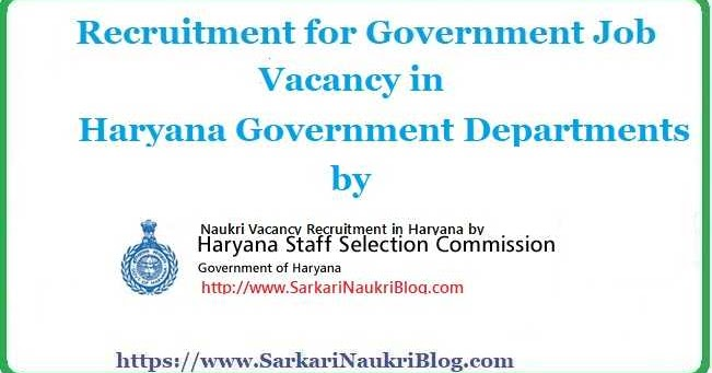 haryana-ssc-government-job-recruitment  Th P Govt Job Online Form Clerk on