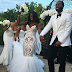 Check out this lady's stunning wedding dress