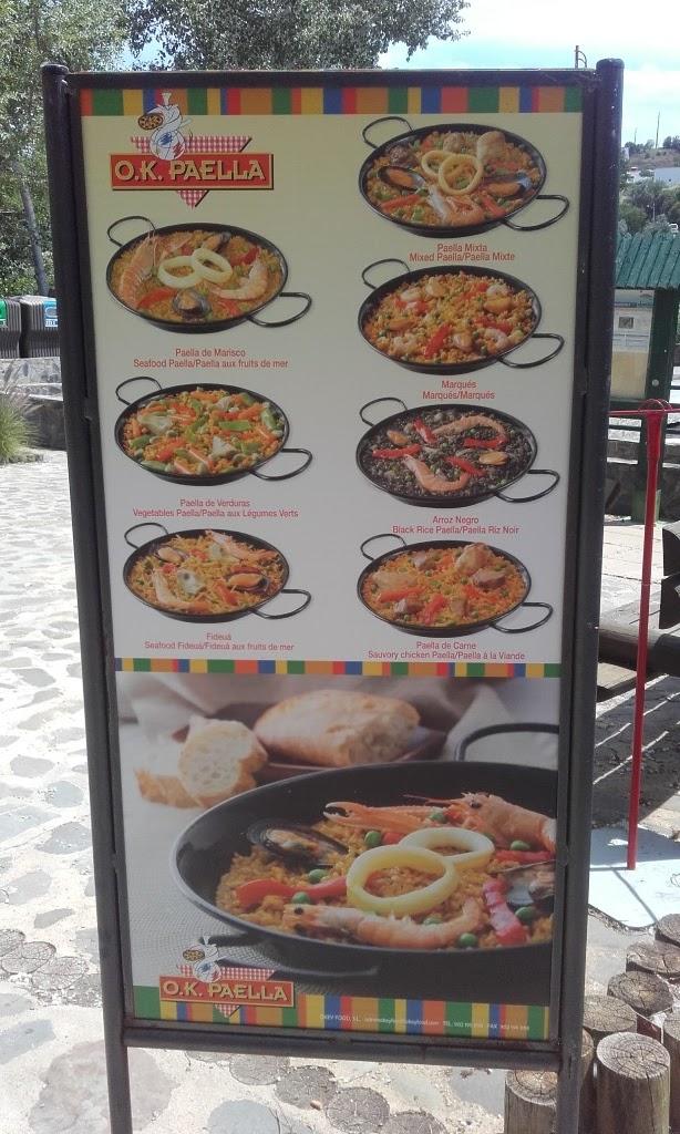 Ementa da Paella