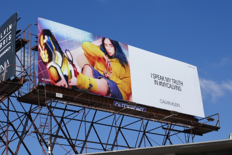 Billie Eilish Speak My Truth Calvin Klein billboard