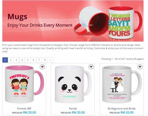 Printcious.com,printcious.com, DIY hadiah dari hati, reka hadiah sendir, print t-shirt murah, reka sendiri design t-shirt, mug, cushion,