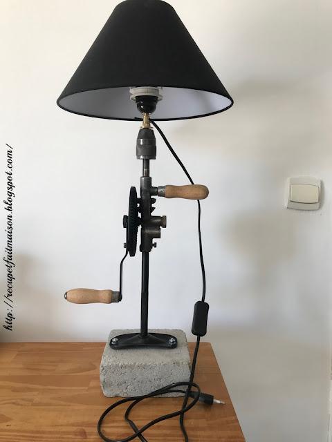 lampe récup chignole