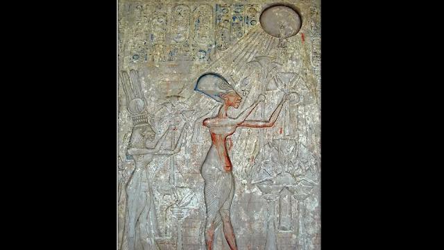 worship of Aten, the disk-shaped sun god