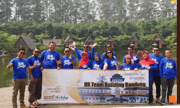Kegiatan Gathering Lembang Kombonasi Wisata Dusun Bambu