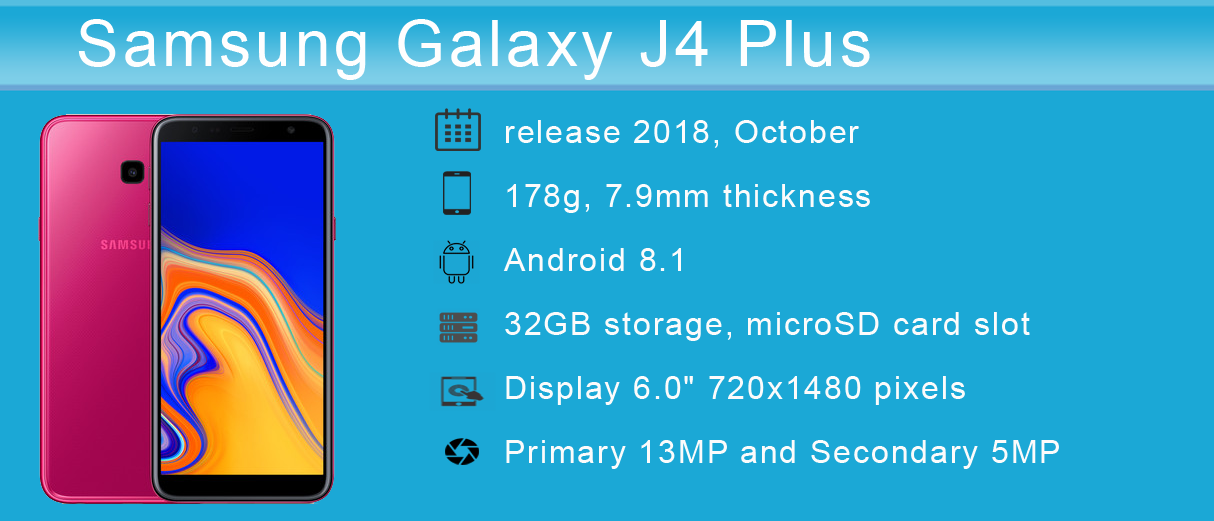 Samsung Galaxy J4 Plus - Price, Full Specifications & Features