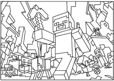 jogo desenhos de minecraft para colorir e imprimir no jogos online wx