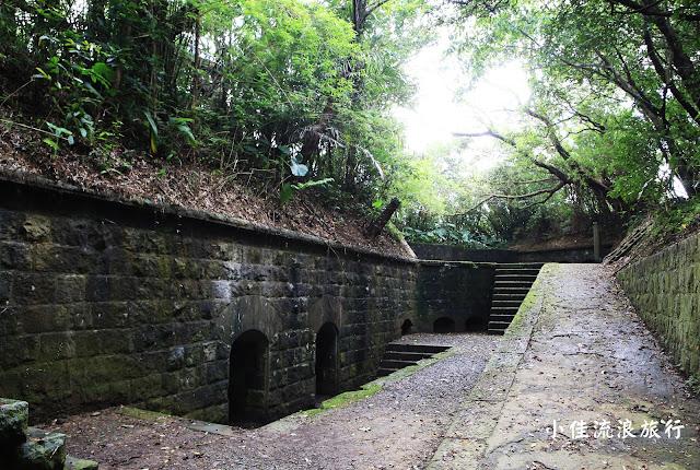 基隆大武崙砲台的砲座遺跡