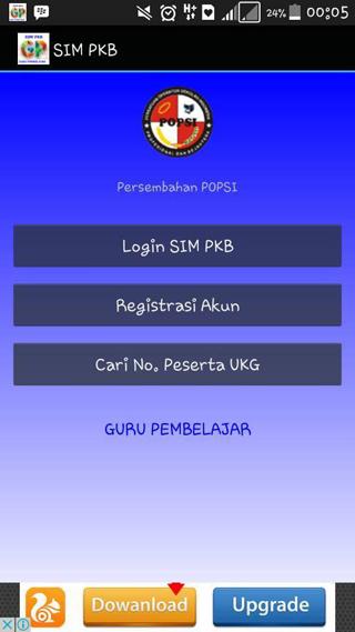 Aplikasi Android SIM PKB untuk Cek Info PTK
