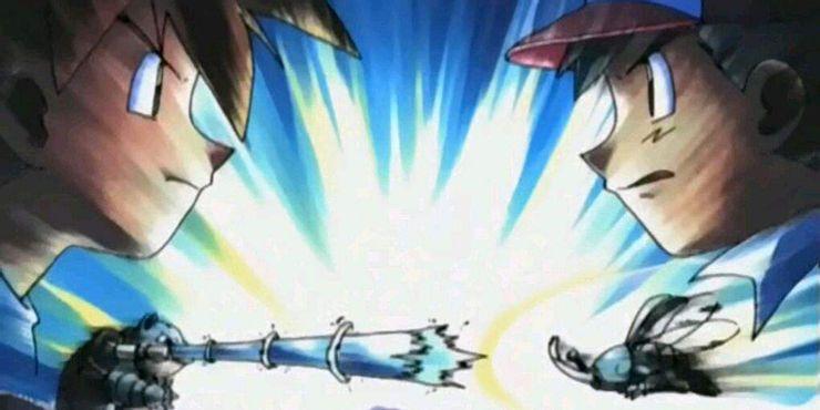 Batalha Ash e Gary Liga Pokémon Johto